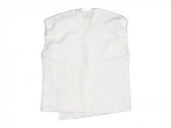 Lin francais d'antan Greco linen vest WHITE