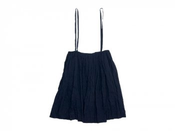 TOUJOURS Drawstring Suspender Skirt DARK NAVY