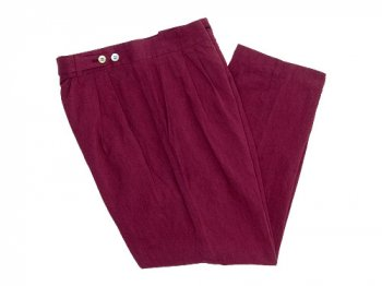 TOUJOURS Pleated Under Wear Pants DARK RED