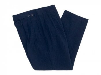 TOUJOURS Pleated Under Wear Pants NAVY