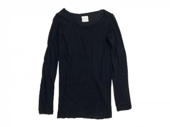 TOUJOURS Round Neck Shirt DUSTY NAVY