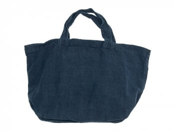 TOUJOURS Linen Marche Tote Bag NAVY