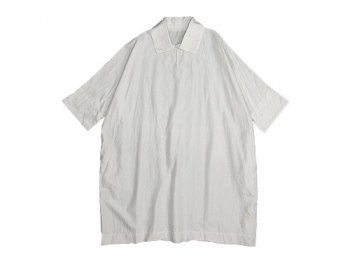 TOUJOURS Back To Front Half Roll Collar Dress SMOKE WHITE