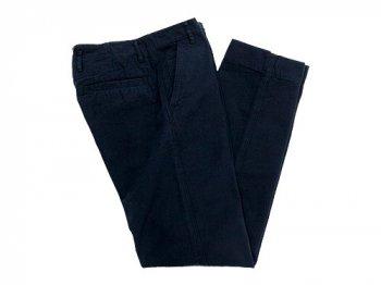 MHL. FADED TWILL PANTS 115NAVY〔メンズ〕