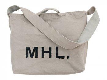 MHL. HEAVY CANVAS SHOULDER BAG  020GRAY