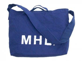MHL. HEAVY CANVAS SHOULDER BAG  110BLUE