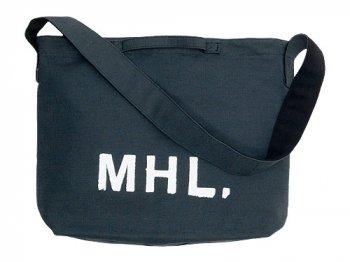 MHL. HEAVY COTTON JUTE CANVAS SHOULDER BAG  023CHARCOAL