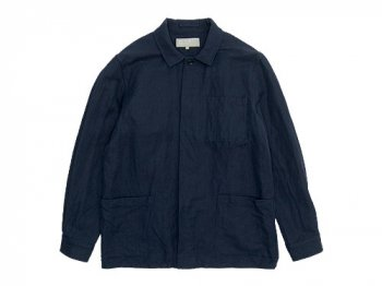 MARGARET HOWELL COTTON LINEN HERRINGBONE BLOUSON 120NAVY〔メンズ〕