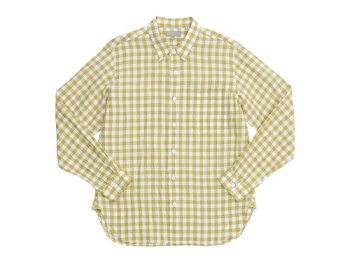 MARGARET HOWELL LINEN GINGHAM CHECK SHIRTS 060MUSTARD 〔メンズ〕