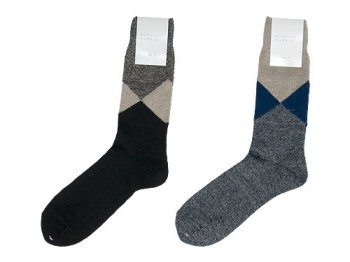 MARGARET HOWELL LINEN ARGYLE SOCKS 〔メンズ〕