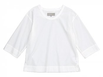MARGARET HOWELL WASHED COTTON SHIRTING T-SHIRTS 030WHITE 〔レディース〕