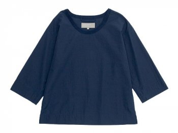 MARGARET HOWELL WASHED COTTON SHIRTING T-SHIRTS 110NAVY 〔レディース〕