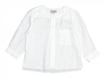 MARGARET HOWELL SHIRTING LINEN II NO COLLAR SHIRTS 030WHITE 〔レディース〕