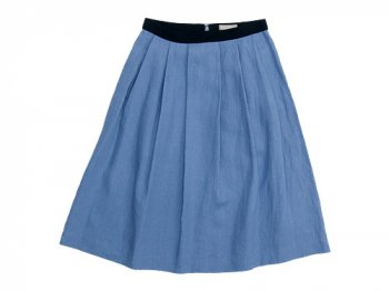 MARGARET HOWELL SHIRTING LINEN III SKIRT 113BLUE 〔レディース〕