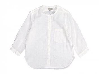 MARGARET HOWELL SOFT LINEN NO COLLAR SHIRTS 030WHITE〔レディース〕