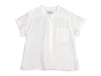 MARGARET HOWELL FINE LINEN P/O SHIRTS 030WHITE〔レディース〕