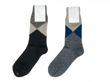 MARGARET HOWELL LINEN ARGYLE SOCKS 〔レディース〕