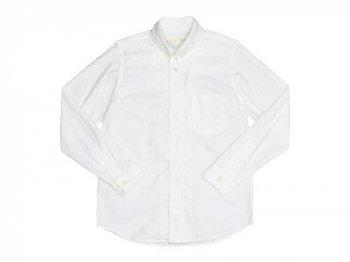 nisica ボタンダウンシャツ 長袖 オックス WHITE