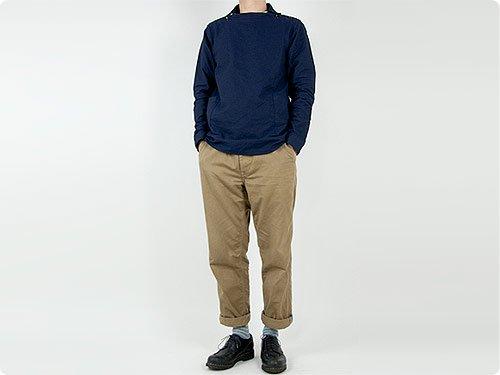 nisica 長袖デッキマンシャツ