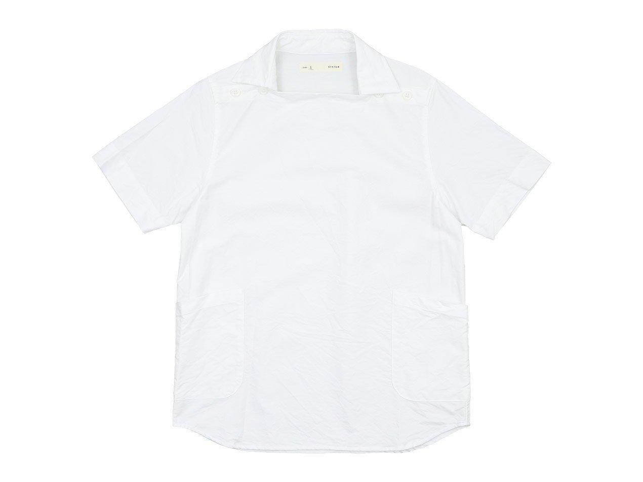 nisica 半袖デッキマンシャツ オックス WHITE