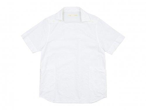 nisica デッキマンシャツ 半袖 オックス WHITE