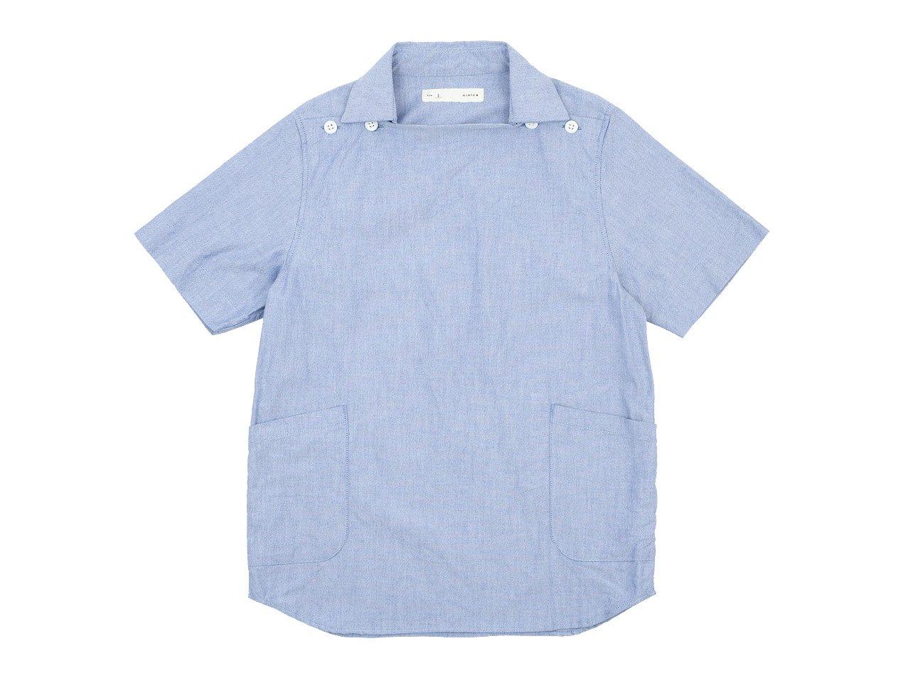 nisica デッキマンシャツ 半袖 オックス BLUE