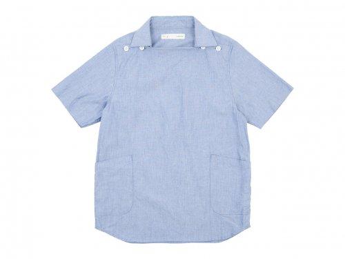nisica 半袖デッキマンシャツ オックス BLUE