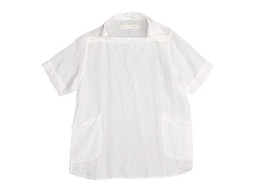 nisica デッキマンシャツ 半袖 リネン