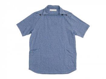 nisica 半袖デッキマンカットソー BLUE GRAY