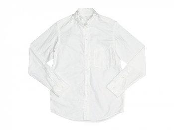 nisicamokusiro 長袖スモールスタンドシャツ オックス WHITE