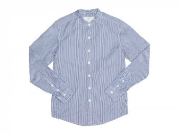 MUYA 60/1 スタンドシャツ BLUE