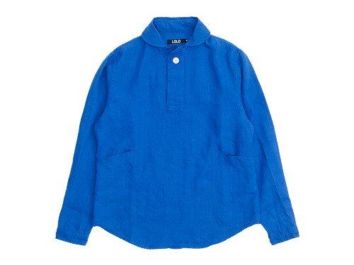 LOLO リネンプルオーバーシャツ BLUE