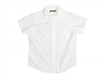 LOLO オックスシャンブレー 丸襟比翼半袖シャツ WHITE