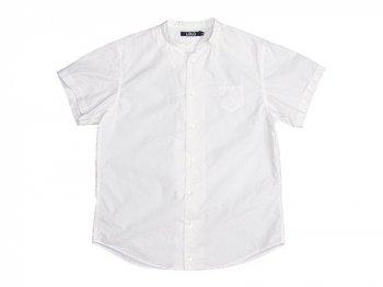 LOLO  半袖スタンドカラーシャツ WHITE