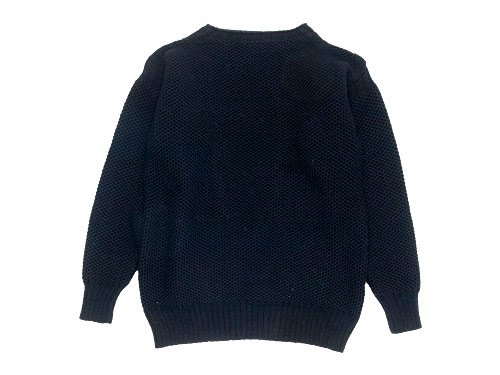 LE TRICOT DE LA MER GUERNSEY HONEY COMB SWEATER FRENCH NAVY