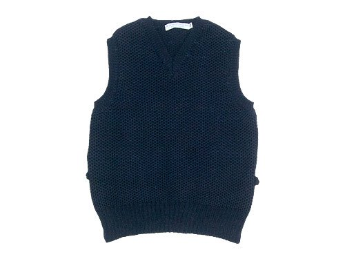 LE TRICOT DE LA MER SOLID WAIST COAT FRENCH NAVY