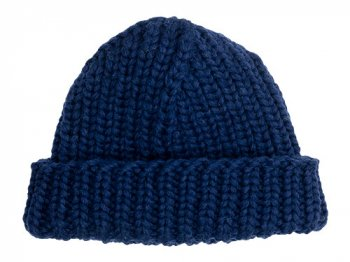 VICTORIA WOOLEN MILL PLAIN HAT INK NAVY
