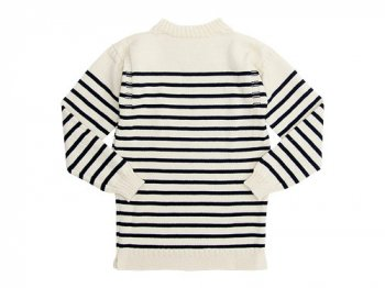 Guernsey Woollens Traditional guernsey stripe ARAN x NAVY