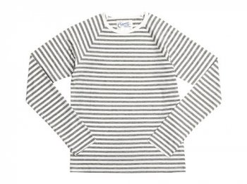 Charpentier de Vaisseau Middle Stripe Long Sleeve Tee GRAY x WHITE