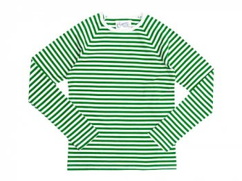 Charpentier de Vaisseau Middle Stripe Long Sleeve Tee GREEN x WHITE