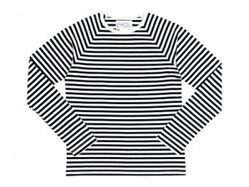 Charpentier de Vaisseau Middle Stripe Long Sleeve Tee NAVY x WHITE