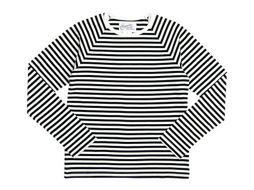 Charpentier de Vaisseau Middle Stripe Long Sleeve Tee BLACK x WHITE