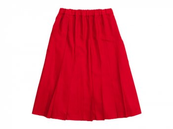 Charpentier de Vaisseau Pleated Skirt Wool RED