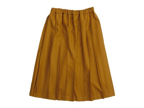 Charpentier de Vaisseau Pleated Skirt Wool MUSTARD