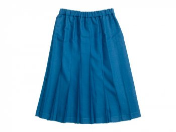 Charpentier de Vaisseau Pleated Skirt Wool LIGHT BLUE