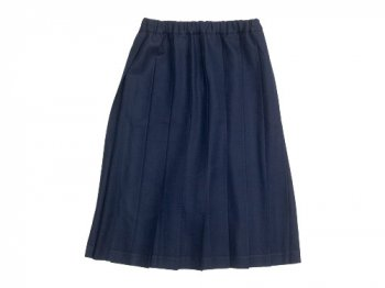 Charpentier de Vaisseau Pleated Skirt Wool NAVY
