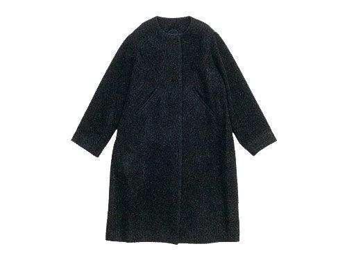 Lin francais d'antan Seurat(スーラ) No Collar Coat Wool&Alpaca DARK GRAY
