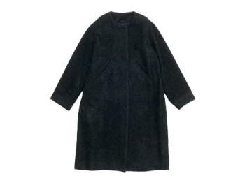 Lin francais d'antan Seurat(スーラ) No Collar Coat Wool&Alpaca DARK GRAY