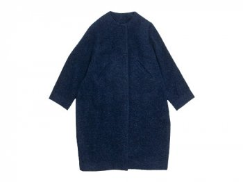 Lin francais d'antan Seurat(スーラ) No Collar Coat NAVY