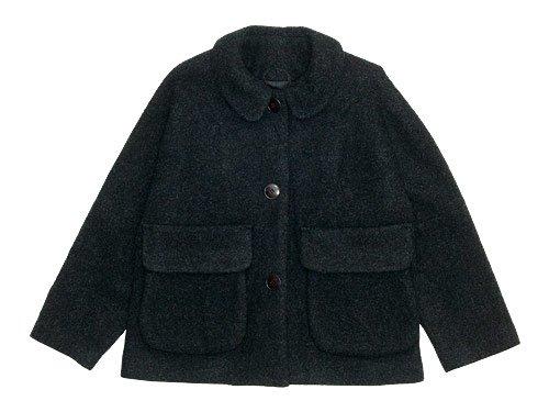 Atelier d'antan Clouet(クルーエ) Round Collar Jacket Wool&Alpaca DARK GRAY
